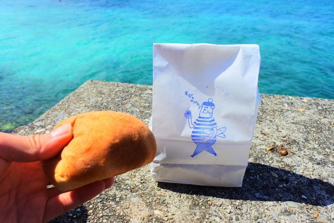 ビーチでモジャのパン
