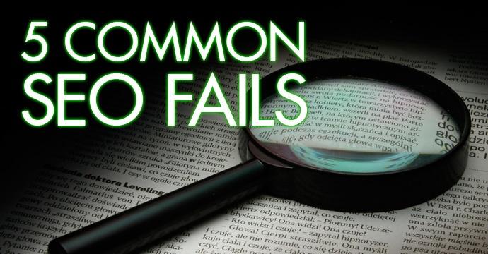 SEO対策でよくある5つの失敗