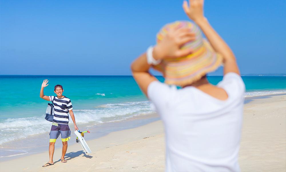 一番有名なビーチ、前浜ビーチ