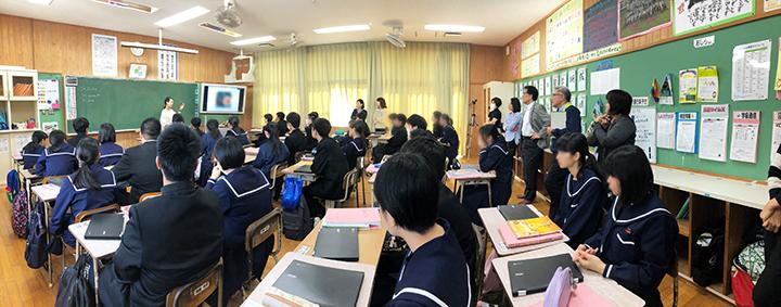 宮古島の中学校で、英会話Lesson!