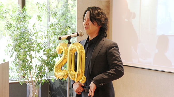 タービン20周年パーティー社長挨拶